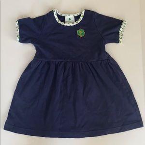 Notre Dame Irish St. Patrick's Day 4t navy dress